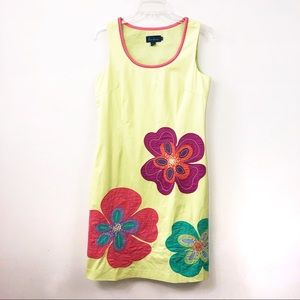 Boden Floral Patch Embroidered Shift Dress SZ 10